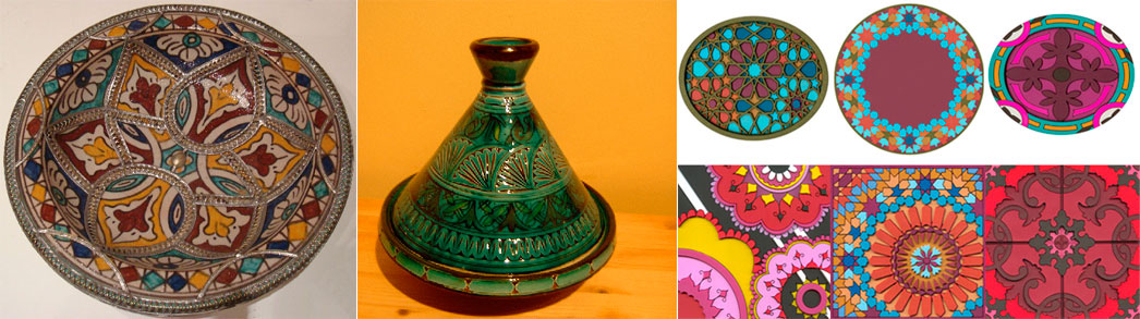 Moroccan-pottery-geometric-patterns